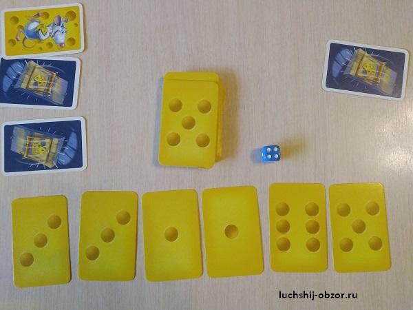 Процесс игры с сырками
