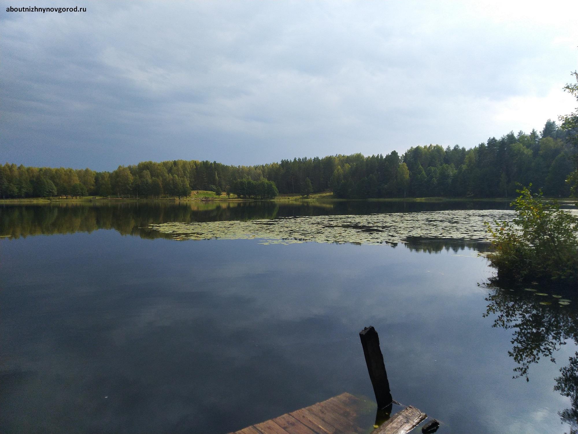 Озеро Светлояр с противоположной от захода стороны